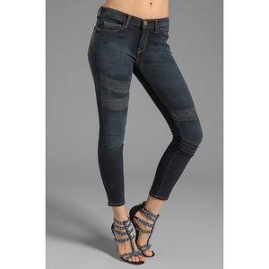 Current/Elliott Stiletto Gray Lace Skinny Jeans